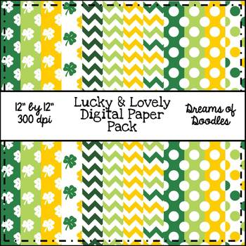 Lucky & Lovely Digital Paper Pack