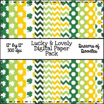 Lucky & Lovely Digital Paper Pack