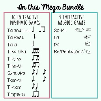 Lucky MEGA BUNDLE for St. Patrick's Day: 14 Interactive Rhythmic/Melodic Games!