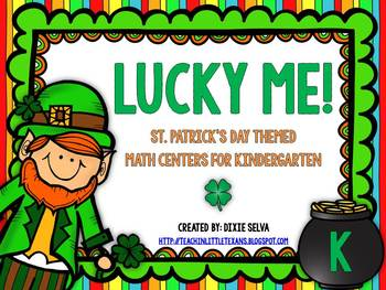 Lucky Me! {St. Patricks' Day Math Centers for Kinder}