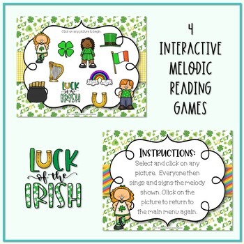 Lucky Melodies - St. Patrick's Day Interactive Game BUNDLE - 4 GAMES!