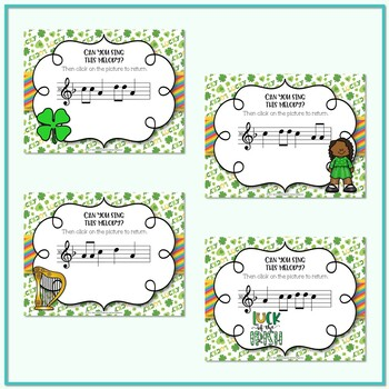 Lucky Melodies - St. Patrick's Day Interactive Game to Practice La
