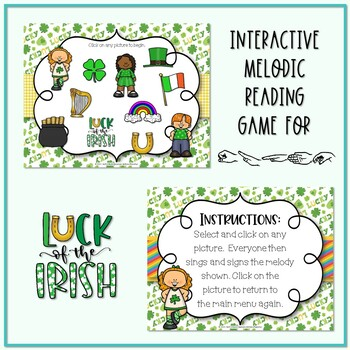 Lucky Melodies - St. Patrick's Day Interactive Game to Practice Re - Pentatonic