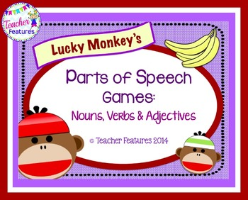 Parts of Speech Game: Lucky Monkey