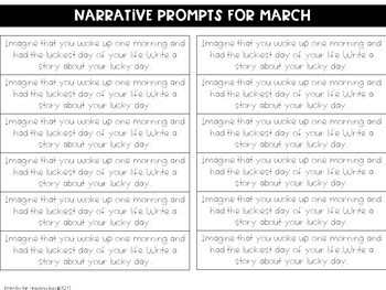 St. Patrick's Day Journal Writing Prompts