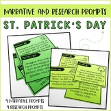 St. Patrick's Day Task Card Prompts