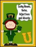 Lucky Nouns, Verbs, Adjectives and Adverbs Activity
