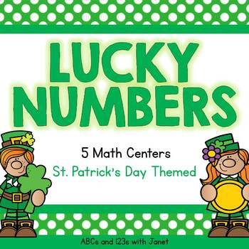 Lucky Numbers - 5 St  Patrick's Day Math Activities