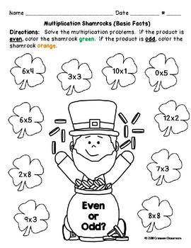 Lucky Numbers Multiplication & Division Even Odd Math Activities