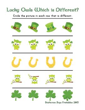 Lucky Owls PreK Printable Learning pack