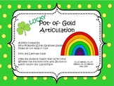 St. Patrick's Day Articulation Speech Therapy