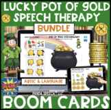 Lucky Pot of Gold BOOM Card Speech Therapy Bundle: Articul