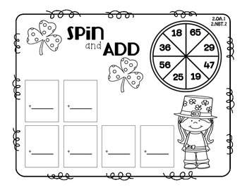 Lucky Printables  Quick Print Activities for St. Patrick's Day  Second Grade