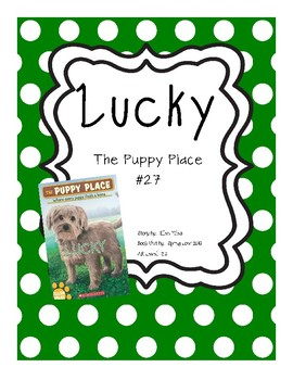 Lucky Puppy Place Book Unit Comprehension And Skill Based By