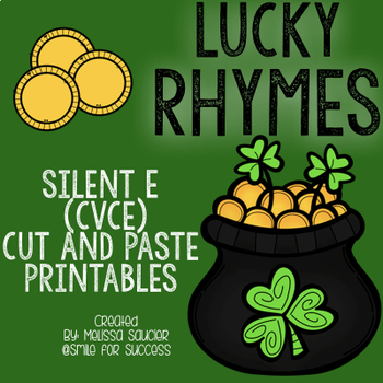 Lucky Rhymes {CVCE Cut & Paste Worksheets}