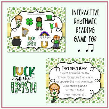 Lucky Rhythms - St. Patrick's Day Interactive Game to Practice Ta ti-ti
