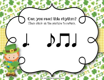 Lucky Rhythms - St. Patrick's Day Interactive Game to Practice Tam-ti