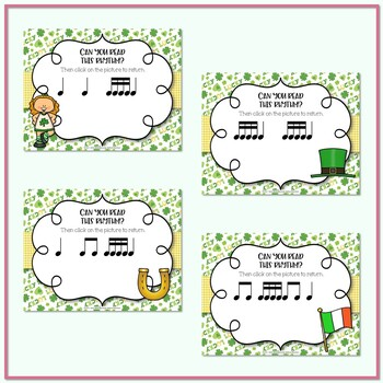Lucky Rhythms - St. Patrick's Day Interactive Game to Practice Tika-tika