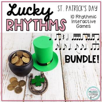 Lucky Rhythms - St. Patrick's Day Interactive Rhythm Game BUNDLE - 10 Games!