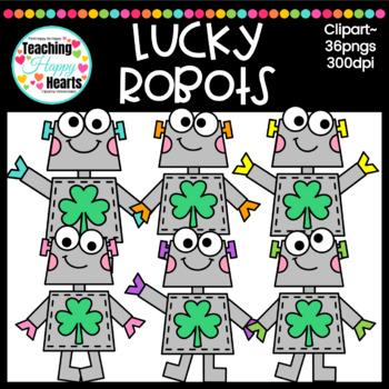 Lucky Robots Clipart