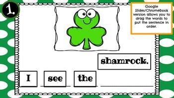Lucky Sentences (St. Patrick's Day)-A Digital Literacy Center