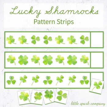 Lucky Shamrocks Pattern Strips