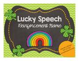 Lucky Speech Reinforcement Game {FREEBIE}