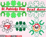 Lucky Split & Circle St. Patricks Day Freame frames clipart Irish four leaf 633s