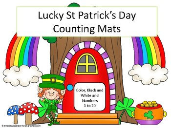 Lucky St Patricks Day Counting Mats 1 to 20