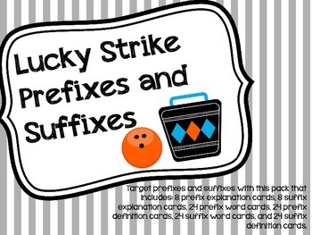 Lucky Strike Prefixes and Suffixes