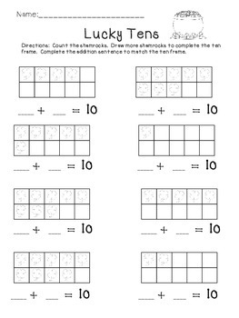 Addition to 10: Ten Frame Addition Practice