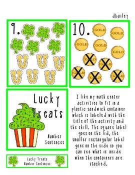 Lucky Treats Addition and Subtraction Center