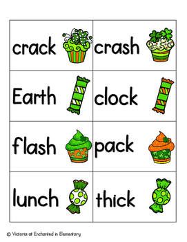 Lucky Treats Phonics: Ending Digraphs Pack