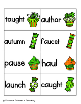 Lucky Treats Phonics: Vowel Digraphs and Diphthongs Pack 2: aw, au, oi, oy