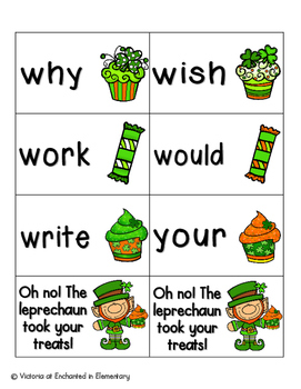 Lucky Treats Sight Words! Second Grade List Pack