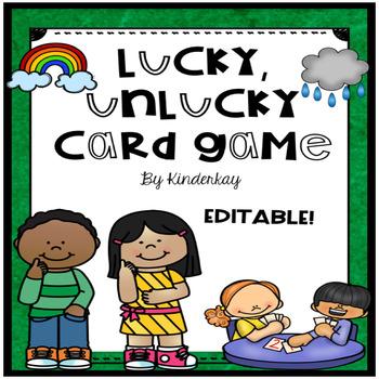 Lucky Unlucky ELA Card Game - Editable