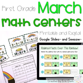 Lucky for Math! St. Patrick's Day Math Tub Activities {Com