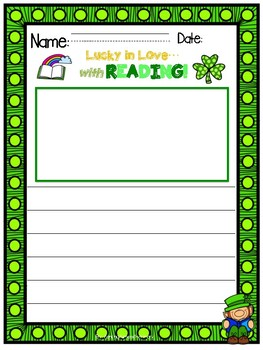 Lucky in Love with Reading- March Writing Prompts K-2