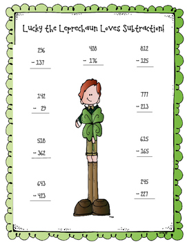 Lucky the Leprechaun Addition and Subtraction Activities!