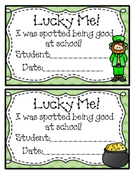 Lucky the Leprechaun March Behavior Incentive