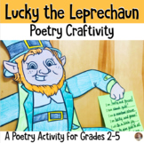 Lucky the Leprechaun POETRY St. Patrick's Day Craftivity- Grades 3-5