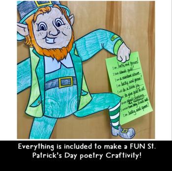 Lucky the Leprechaun POETRY St. Patrick's Day Craftivity- Grades 3-5