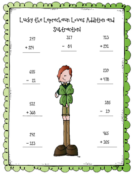 Lucky the Leprechaun St. Patrick's Day Math Bundle