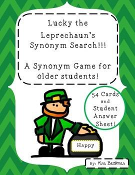 Lucky the Leprechaun Synonym Search!