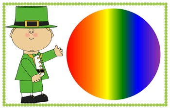 Lucky the Leprechaun colors of the rainbow