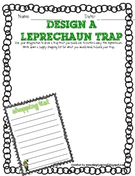 Lucky the Leprechaun primary activities for St. Patrick's Day