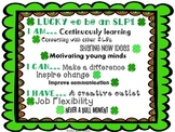 """Lucky to be an SLP"" Poster and student activity {FREE}"