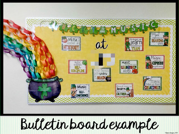 Lucky to have Music: Bulletin Board Kit