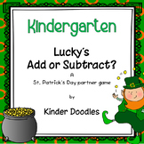 Lucky's Add or Subtract Partner Game
