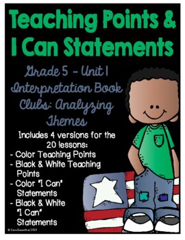 Lucy 5th Grade Unit 1 Teaching Points & I Can Statements
